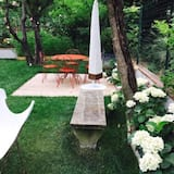 Dvoulůžkový pokoj, výhled do zahrady - Terasa