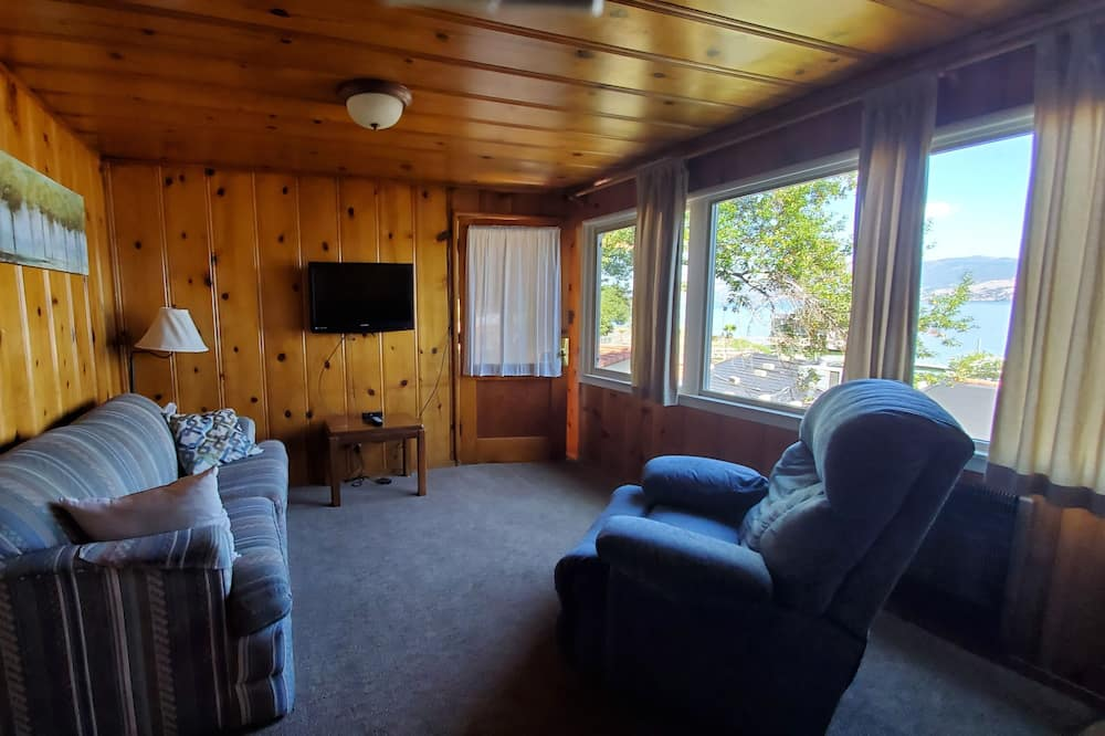 Comfort huisje, 1 slaapkamer, keuken, uitzicht op meer - Woonkamer