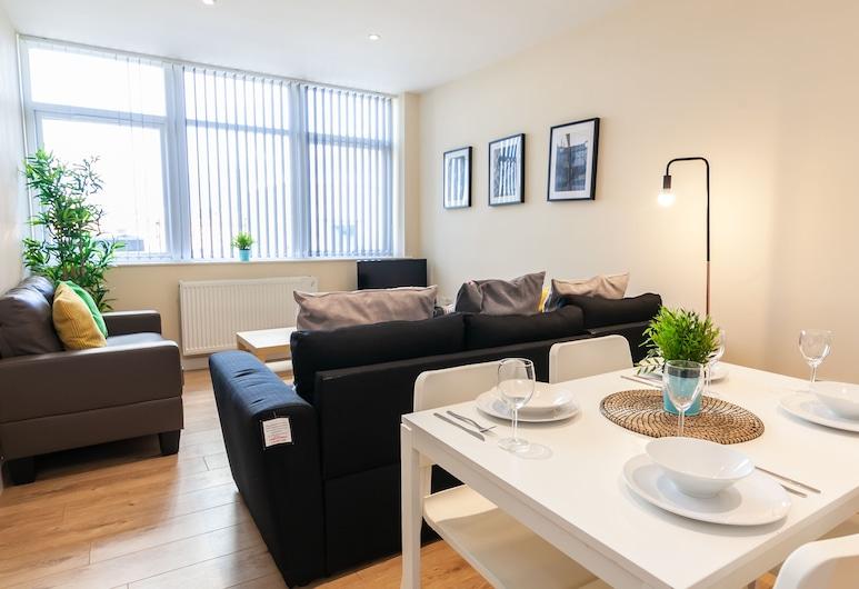 史丹利街認證服務式公寓飯店, 曼徹斯特, 基本公寓, 1 間臥室, 非吸煙房, 客廳