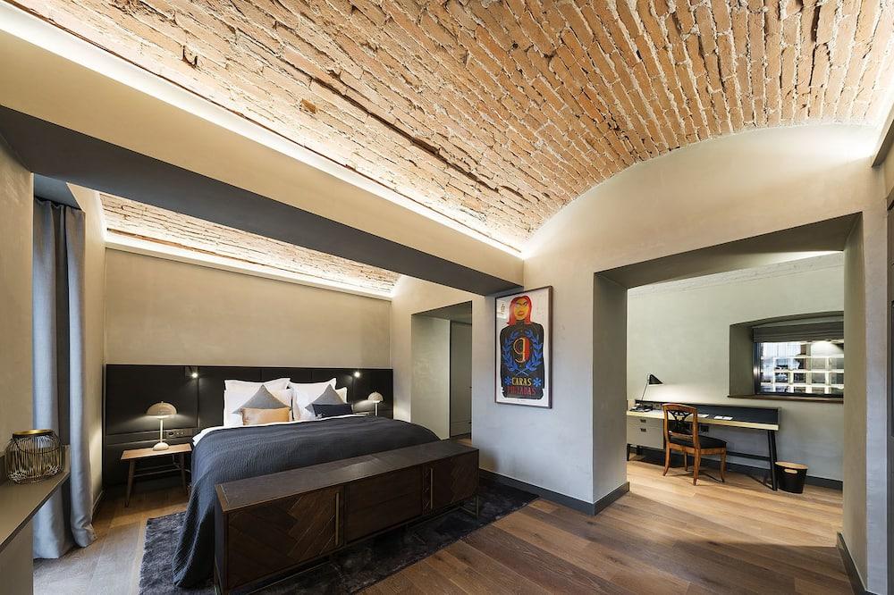 Apartmán typu Junior, 1 extra veľké dvojlôžko, výhľad na park - Obývacie priestory