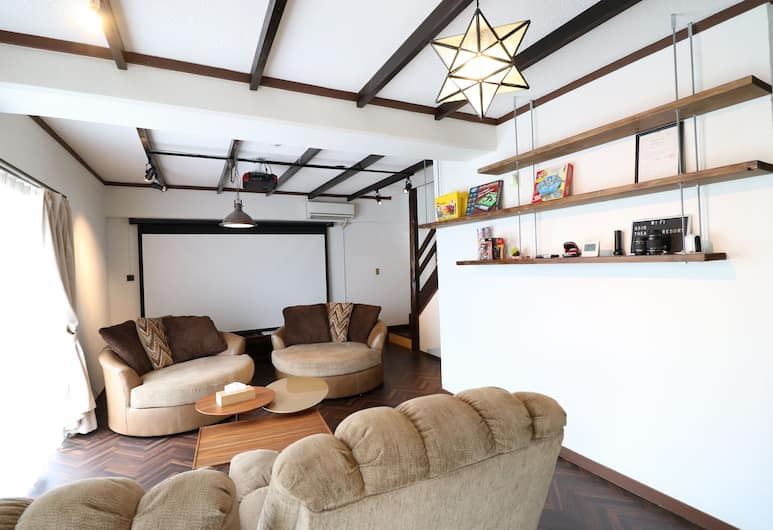 Theater Resort, Motobu, Private Vacation Home, Living Area