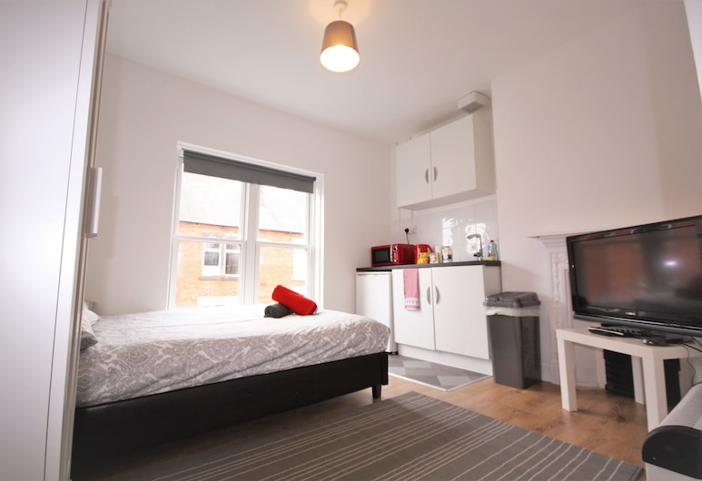 Derbyshire Serviced Apartments, Nottingham, Studio – comfort, 1 dobbeltseng (Studio 5), Rom