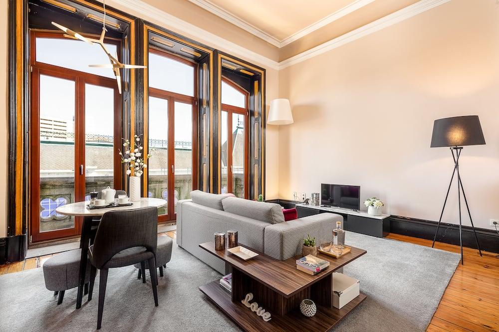Apartmán, 1 ložnice, balkon ( 2 D ) - Obývací prostor