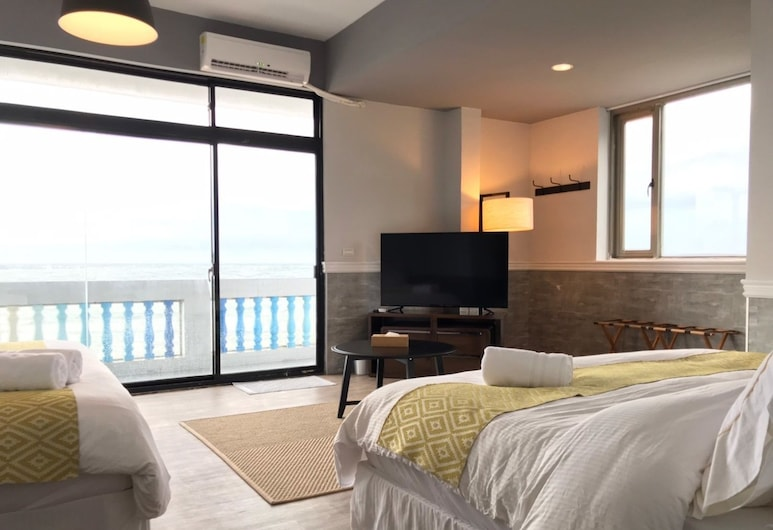 Chill Chill House, New Taipei City, Deluxe Quadruple Room, Beach View, Guest Room