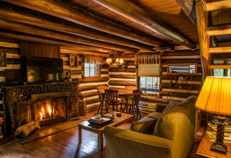 Rivers Edge Cabin- Perfect for Romance/outdoor Adventures/relaxation, Элкинс, Гостиная