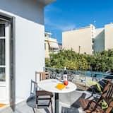 Paaugstināta komforta dzīvokļnumurs, divas guļamistabas - Terase/iekšējais pagalms