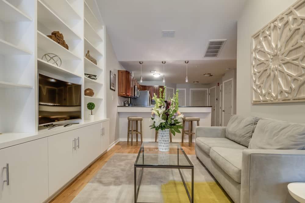Căn hộ Deluxe, 2 phòng ngủ, Bếp - Khu phòng khách