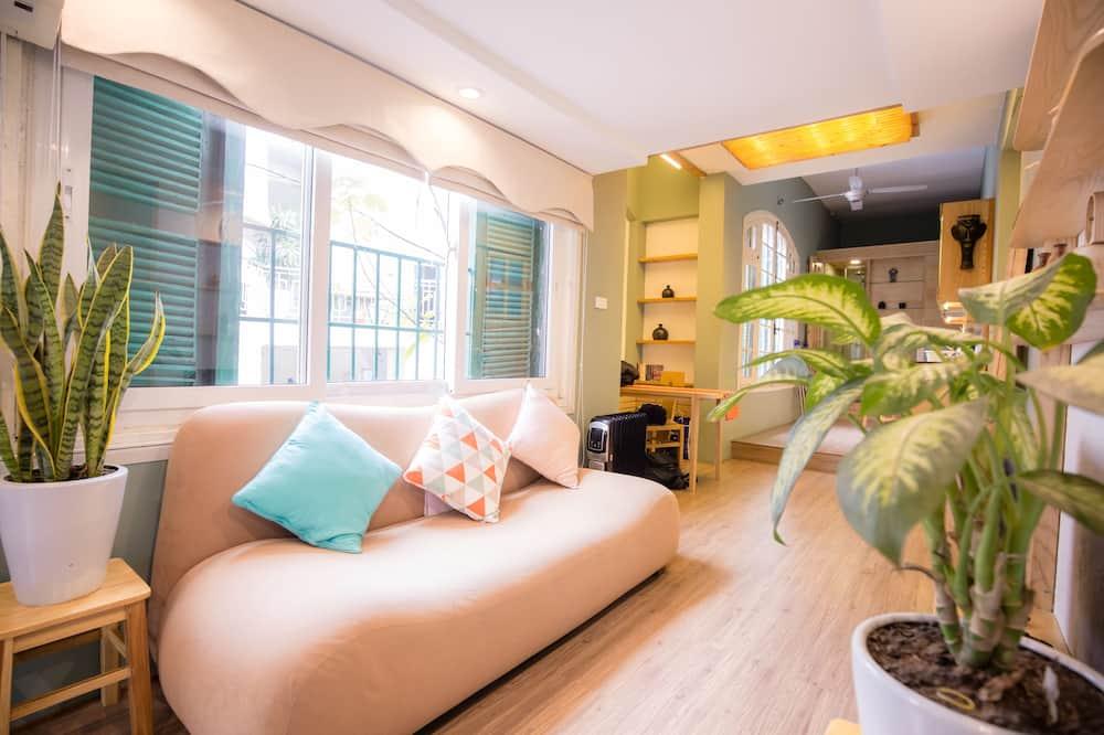 Căn hộ tiện nghi đơn giản, 1 phòng ngủ - Phòng khách