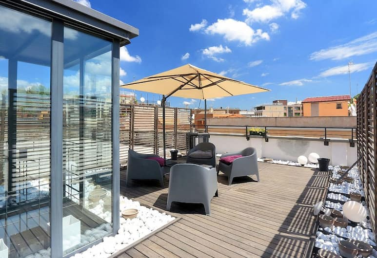 Ripa Roof Terrace Apartment, Rom, Comfort-lejlighed - 2 soveværelser - terrasse - udsigt til gårdsplads, Terrasse/patio