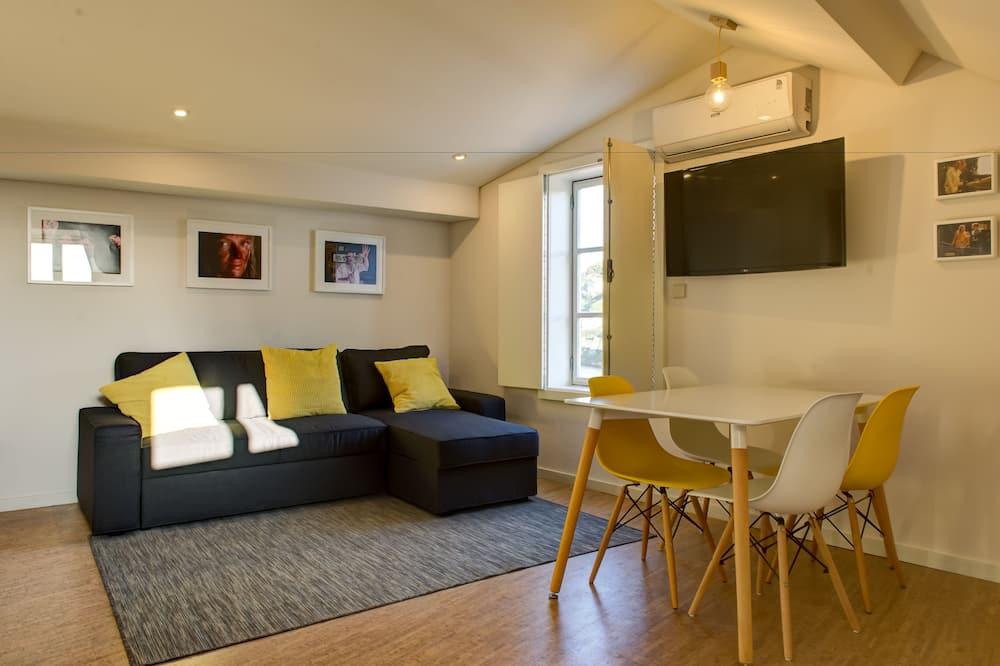 高級公寓, 1 間臥室, 河景 - 客廳