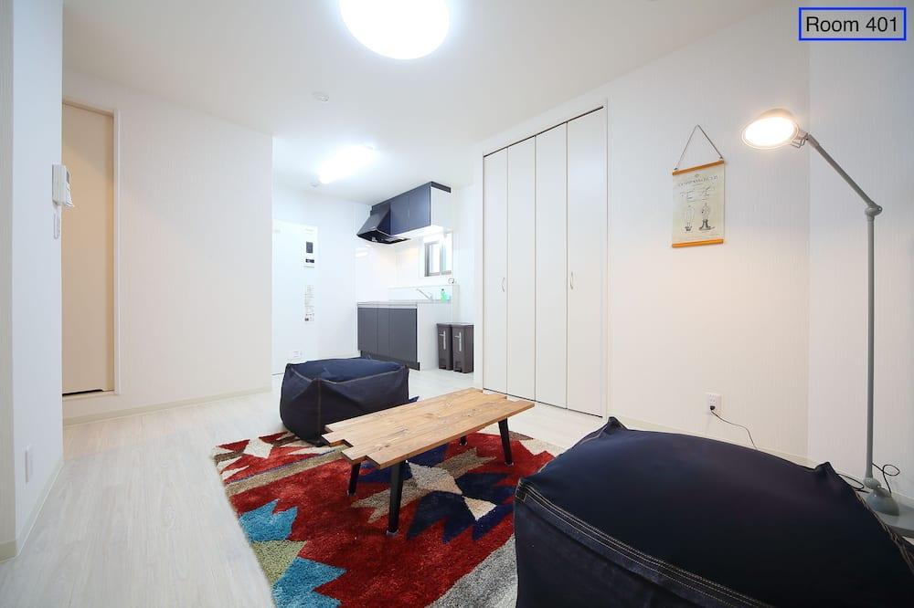 شقة إستديو اقتصادية - غرفة نوم واحدة - منطقة المعيشة