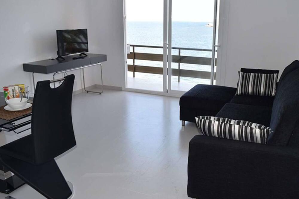 Apartament, 1 sypialnia, widok na morze - Salon