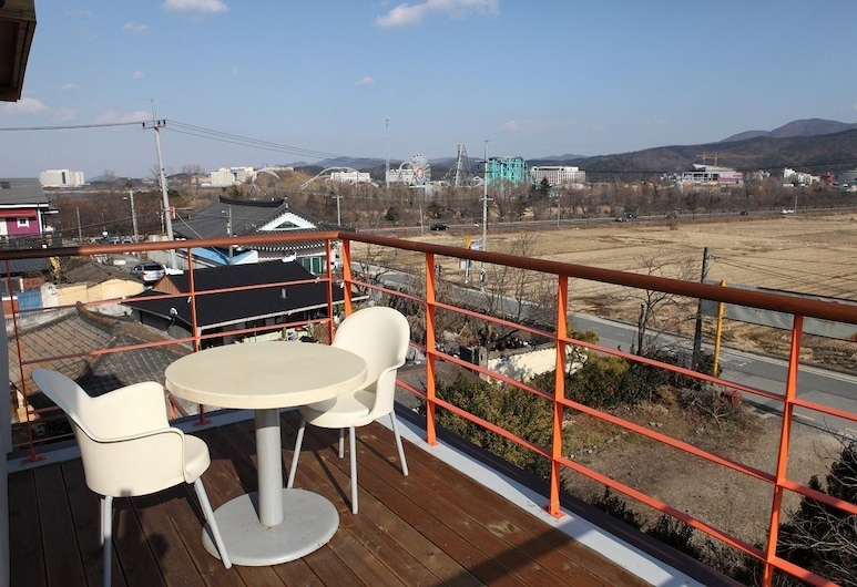 孿生村莊旅館, 慶州, 複式房屋, 陽台