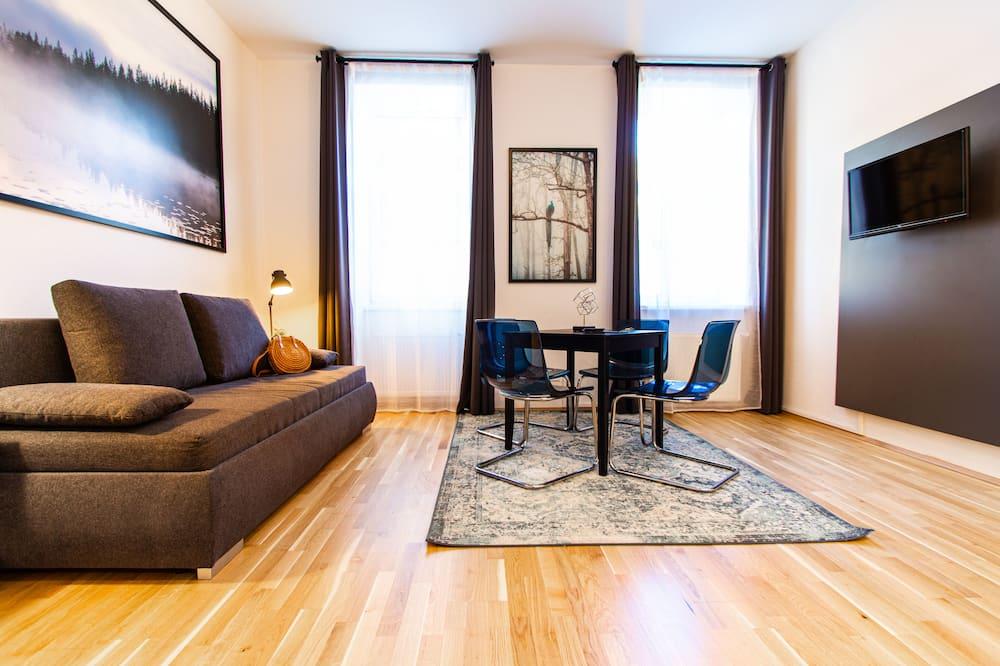 Comfort-Apartment, 1Queen-Bett und Schlafsofa, Küche - Wohnzimmer
