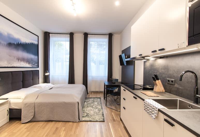 CheckVienna - Apartment Familienplatz, Bécs, apartman, 3 hálószobával, konyha, Szoba