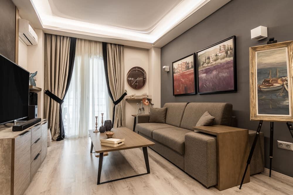 Departamento Elite, 1 cama Queen size con sofá cama, balcón - Sala de estar