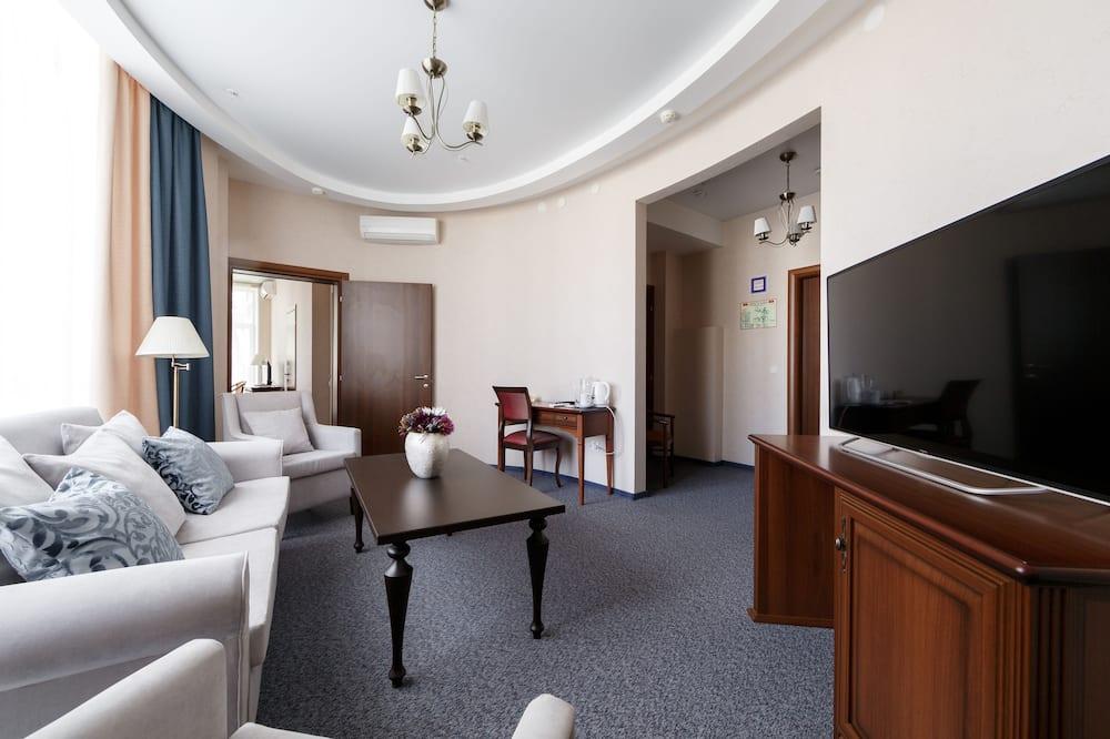 Phòng Suite, 2 giường đơn - Khu phòng khách