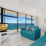 Deluxe appartement, 2 slaapkamers, uitzicht op zee - Woonruimte