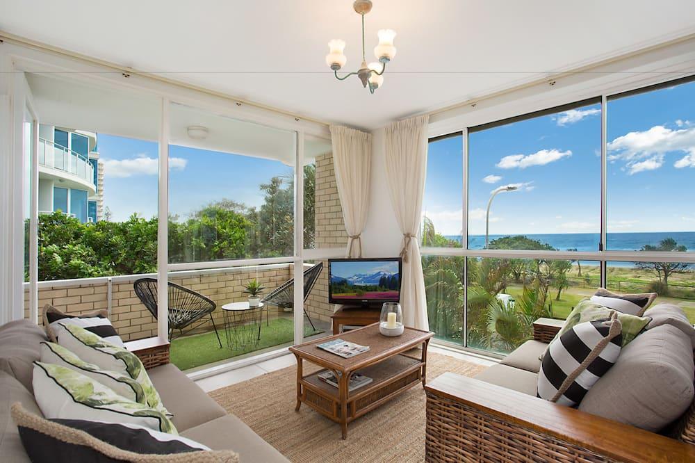 Deluxe appartement, 3 slaapkamers, uitzicht op zee - Woonruimte