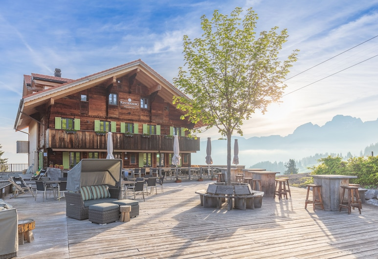 Rinderberg Swiss Alpine Lodge, Zweisimmen, Αίθριο/βεράντα