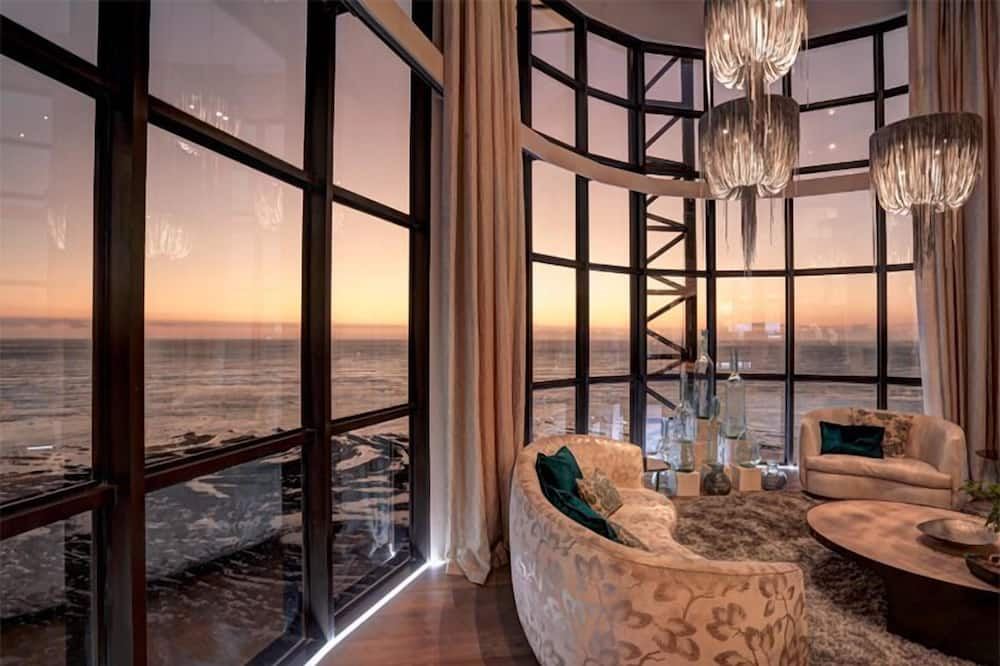 Ocean View Penthouse  - Living Room