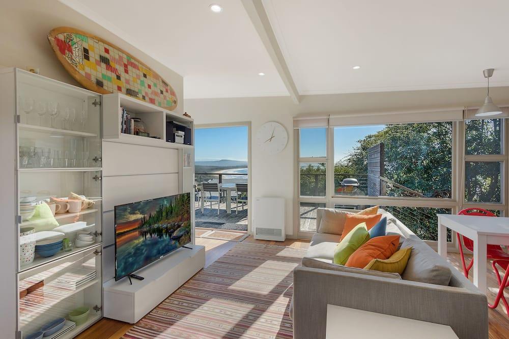 Apartamentai, 1 miegamasis, vaizdas į vandenyną - Svetainės zona