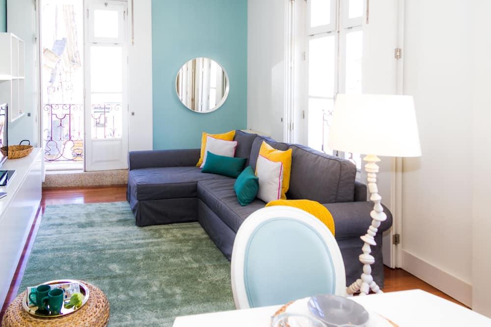 Апартаменты, 1 спальня, балкон - Зона гостиной