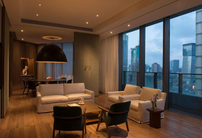 The Sukhothai Shanghai, Shanghai, Signature-Suite, Ausblick vom Zimmer