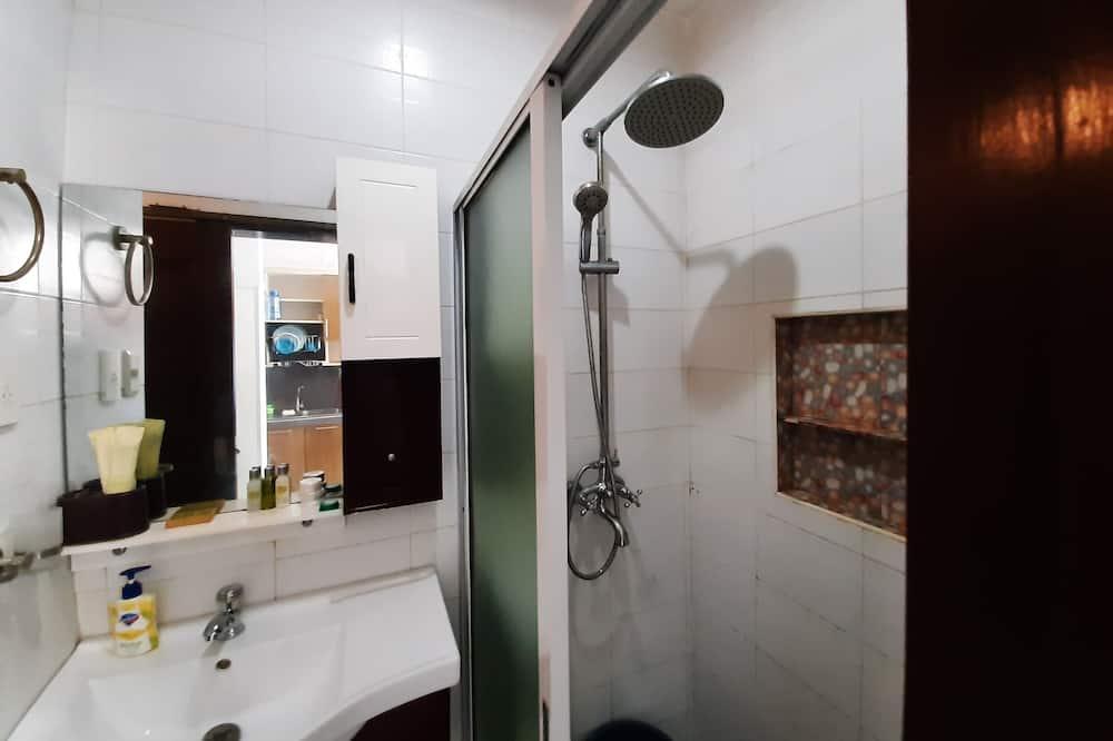 Студия-люкс, 1 двуспальная кровать с диваном-кроватью, балкон, вид на море - Ванная комната