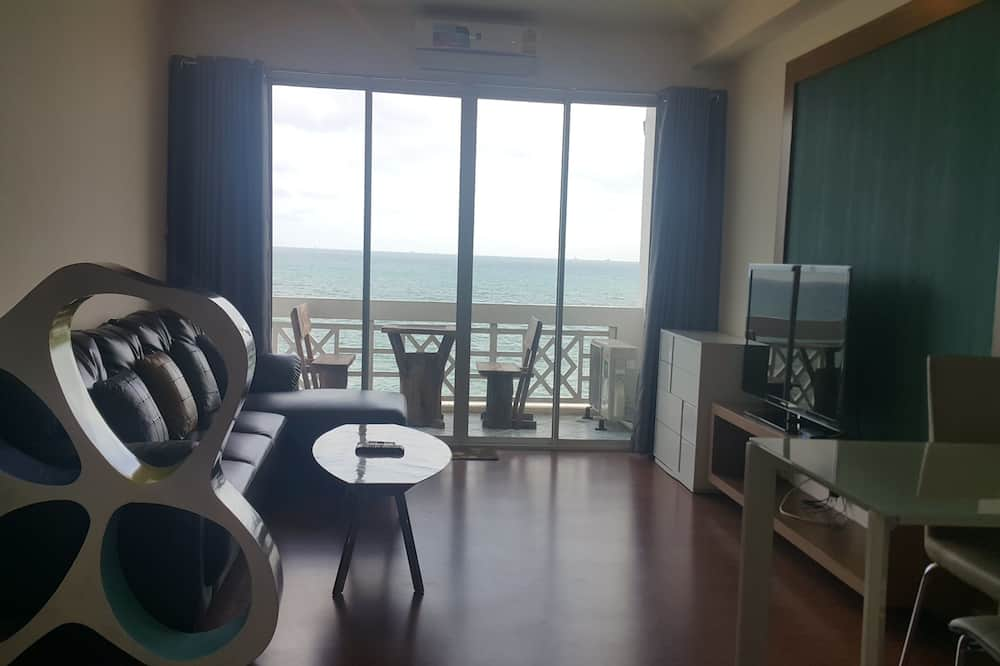 Deluxe Double Room with Sea View  - Coin séjour