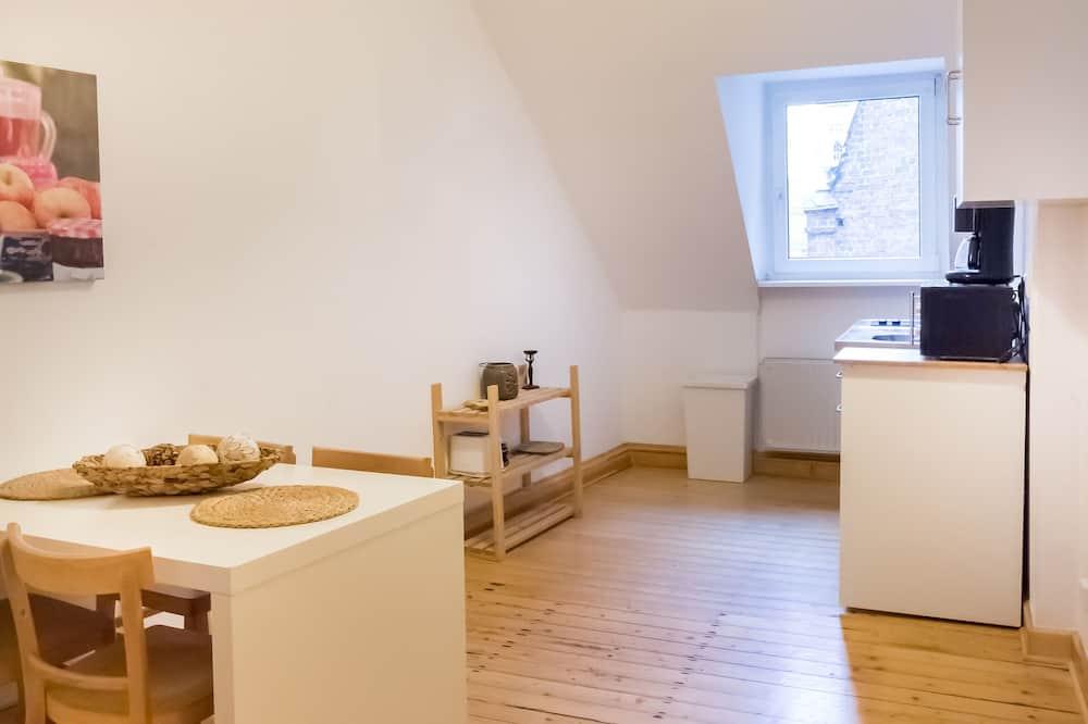 Basic-Apartment, 2Schlafzimmer - Essbereich im Zimmer