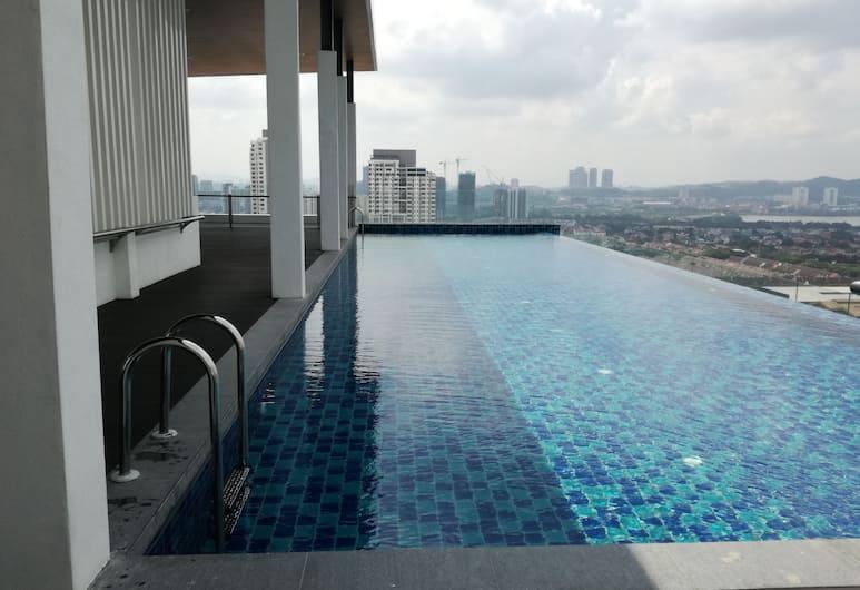 Near LRT Apartment at Da Men, Subang Jaya, Piscina a sfioro