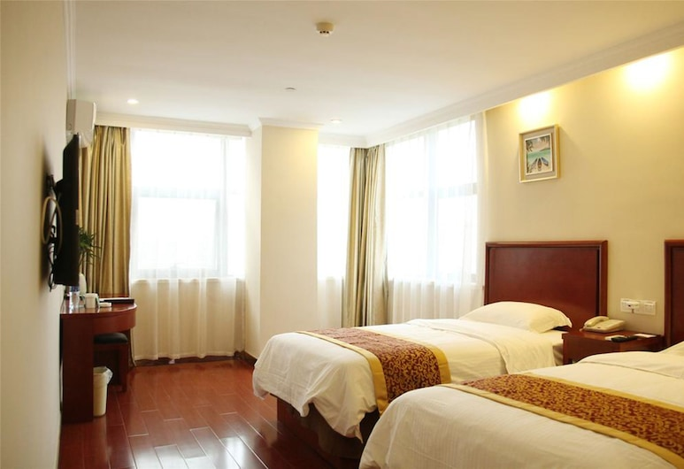 GreenTree Inn HeFei South High-Speed Railway Station BaoHe Avenue Baohe District Government Hotel, Hefei, Standard Twin Room, Bilik Tamu