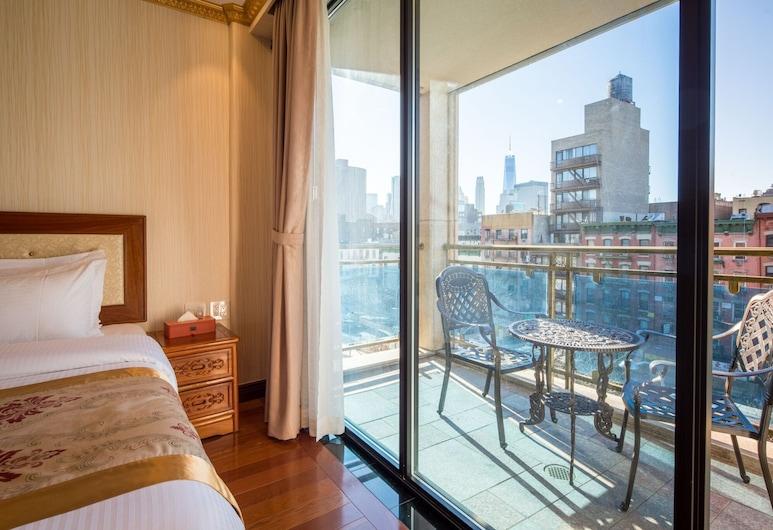 The Allen Hotel, New York, Deluxe-Zimmer, 1King-Bett, Balkon, Zimmer