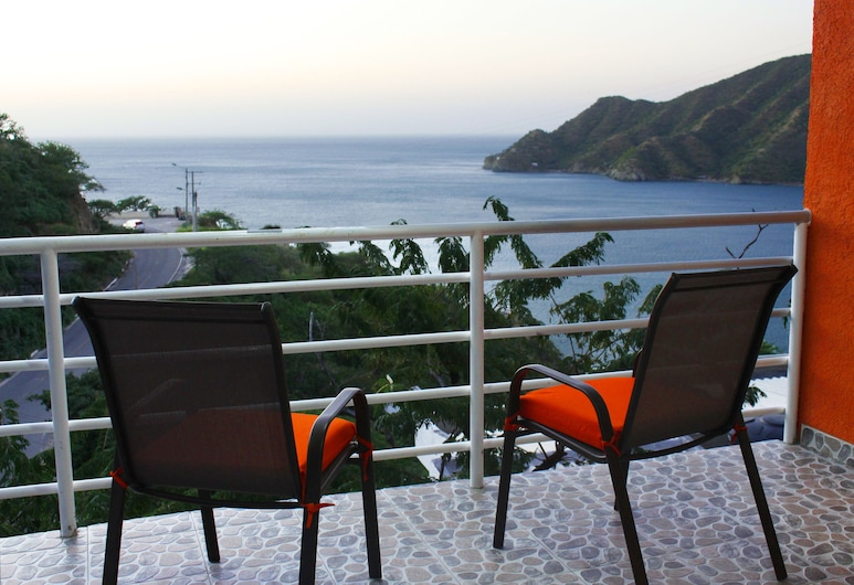 Suitehouse Taganga, Santa Marta, Habitacion privada, Superior, Vista al mar, (SMR576A), Balcone
