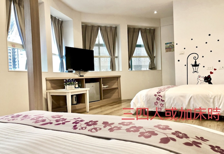 HONEY HOUSE B&B, Luodong, Romantic Double Room, 1 Double Bed with Sofa bed, Guest Room