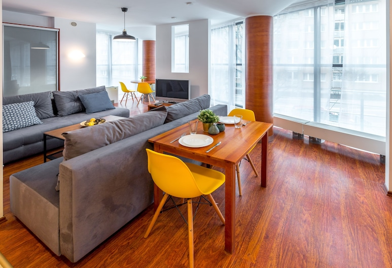 FriendHouse Apartments - Aparthotel, Kraków, Apartament typu Deluxe, 1 sypialnia, Powierzchnia mieszkalna