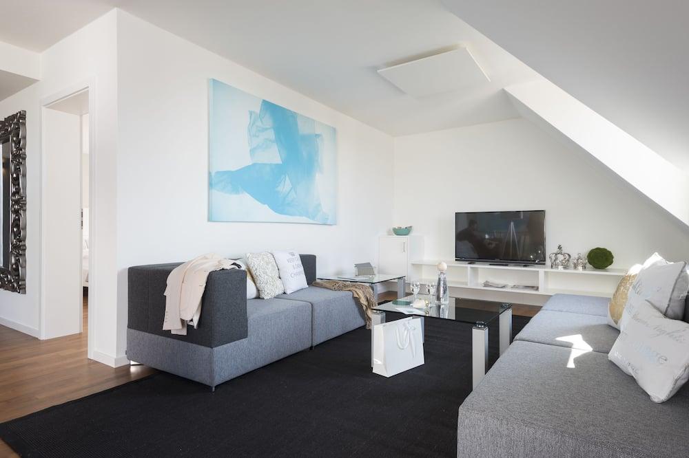 Suite, 2 Quartos, Vista Lago - Área de Estar