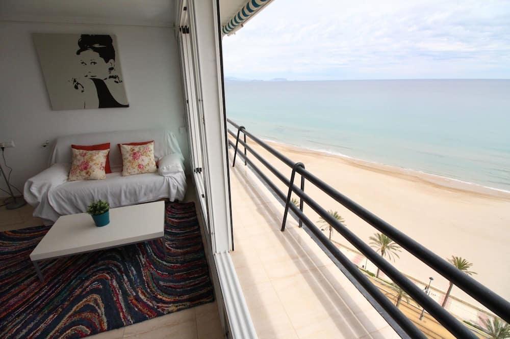 Loftový byt, balkon, výhled na moře - Obývací pokoj