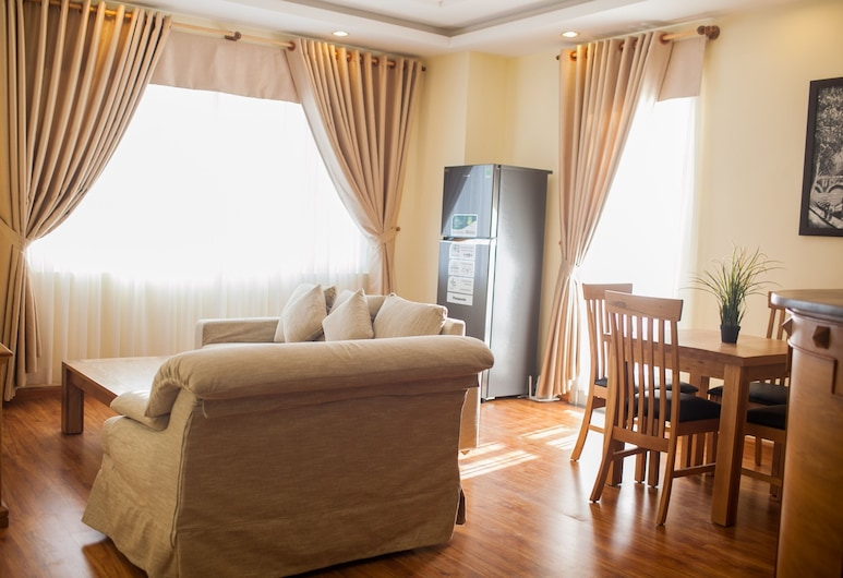 Merin City Suites, Ho Chi Minh City, Lägenhet Standard - 1 sovrum - balkong, Vardagsrum