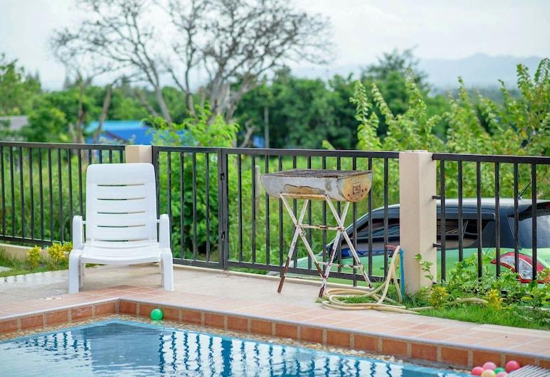 帕圖泳池別墅酒店, 華欣, 3-Bedroom Pool Villa , 陽台