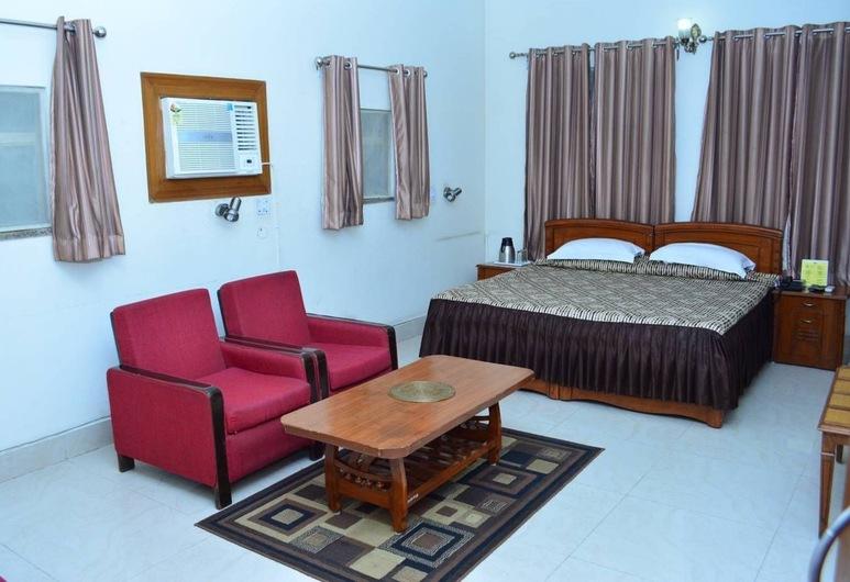 Blue Triangle Family Hostel, New Delhi, Familiekamer, 2 tweepersoonsbedden, Kamer