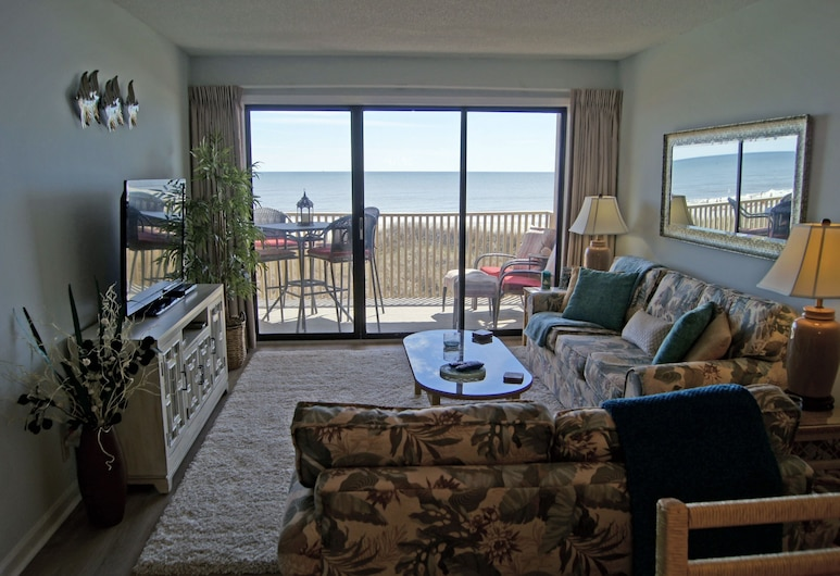 Coastal Dunes B2 by RedAwning, North Myrtle Beach, Condo, 1 Bedroom, Living Room