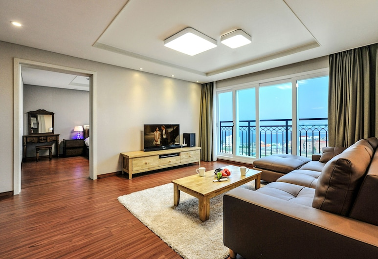 Aquarius resort, Geoje, Family Double Suite, 2 Bedrooms , Svetainė