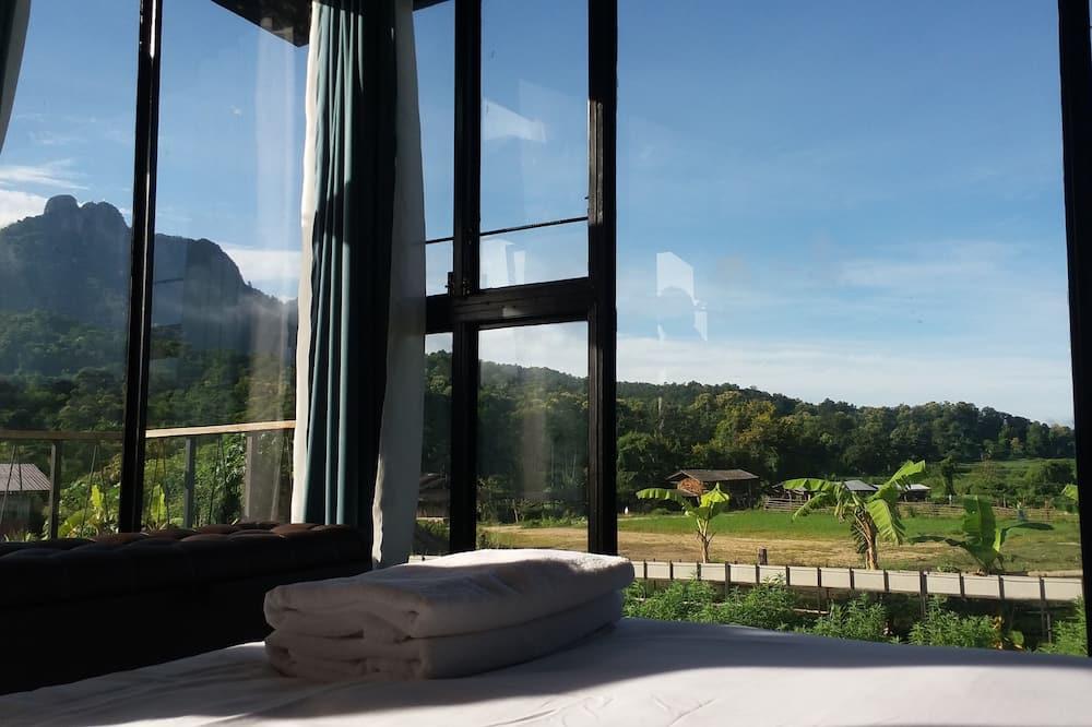 Zimmer, 1 Queen-Bett, Bergblick - Ausblick vom Zimmer