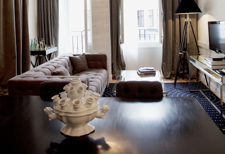6 Rooms - Garnisongasse, Viena, Sala de estar