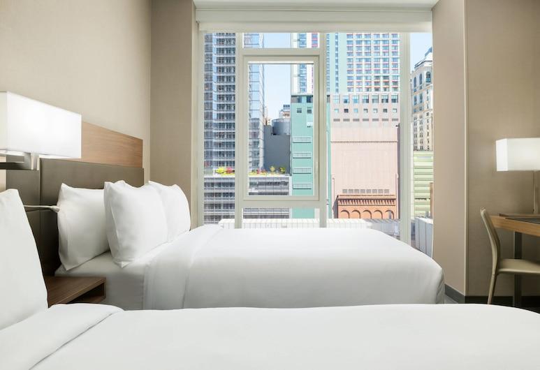 AC ホテル バイ マリオット ニューヨーク タイムズ スクエア, ニューヨーク, ルーム ダブルベッド 2 台 禁煙 シティビュー, 部屋