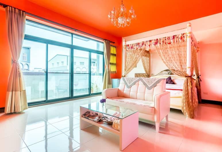 橫賓浪漫民宿, 台東市, 加大雙人床房,陽台, 客房