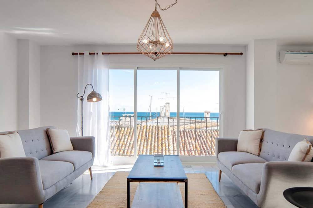 Apartamentai, 3 miegamieji, vaizdas į uostą (Duplex) - Svetainė