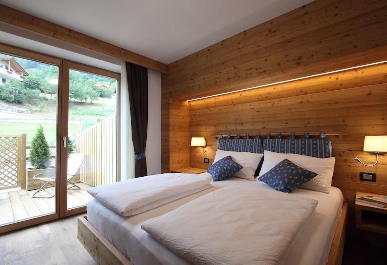 Dolomites B&B Suites and Apartments, Tesero, Quarto Duplo Standard, Varanda